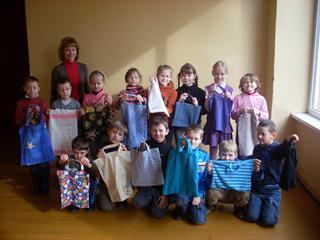 1-mokų pasigaminti krepšeliai